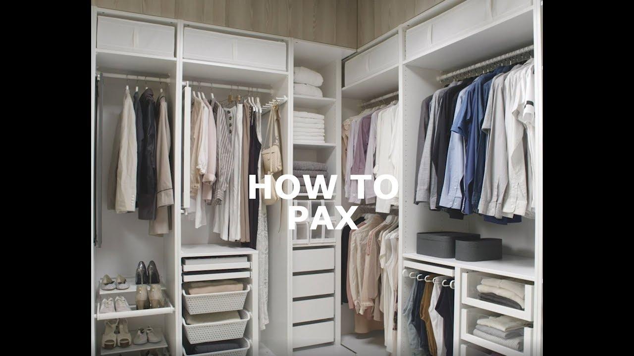 Kledingkast Hangkast Ikea.Hoe Richt Ik Mijn Pax Kledingkast In Ikea Helpt Youtube