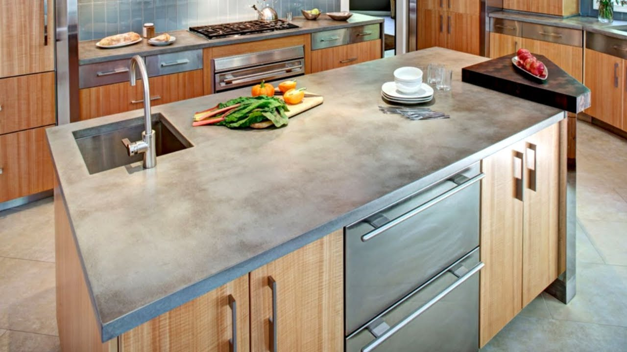 Concrete Kitchen Countertops Youtube