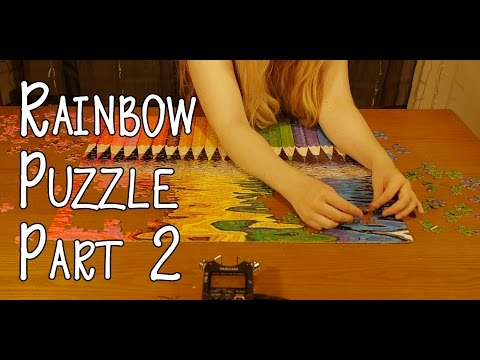 Rainbow Puzzle Part 2 Binaural ASMR (No Talking)