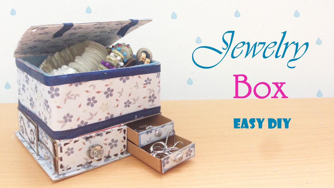 Jewelry Organizer Diy Diy Jewelry Organizers Box Super Easy Youtube