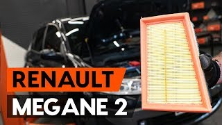 Instalar Filtro de Ar RENAULT MEGANE II Saloon (LM0/1_): vídeo grátis