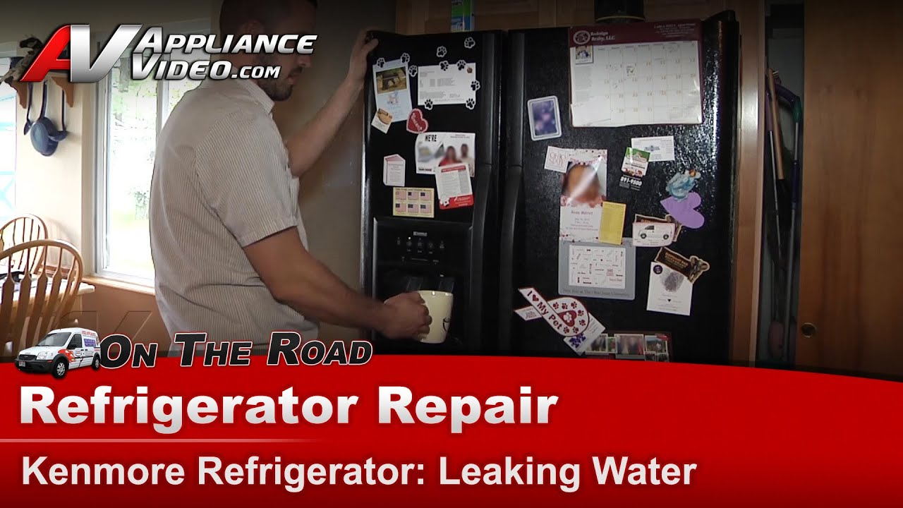 Kenmore Refrigerator Repair >> Kenmore Refrigerator Repair - Leaking Water - 25354669402 - YouTube