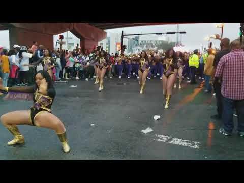 "Alcorn State University """"Leave Me Alone """" under the bridge @ Mardi Gras Parade in New Orleans"