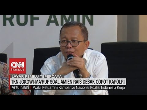 TKN Jokowi-Ma'ruf Soal Amien Rais Desak Copot Kapolri