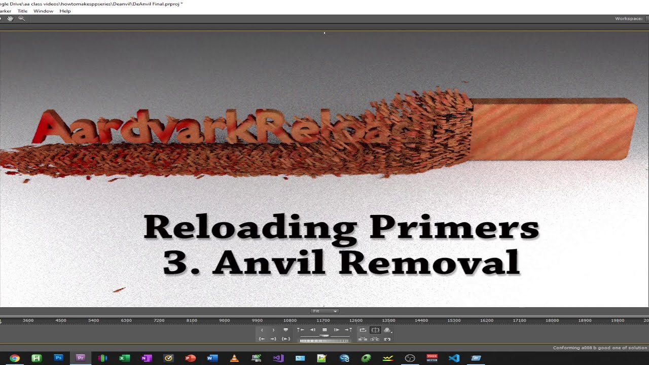 Homemade Primers Series - Part 3 Anvil Removal