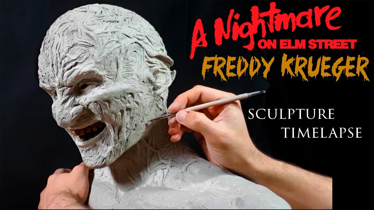 Sculpting Freddy Krueger - timelapse sculpt and airbrush demo