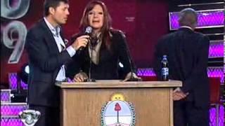 Showmatch 2009 - Cristina dio un discurso alusivo a las elecciones legislativa