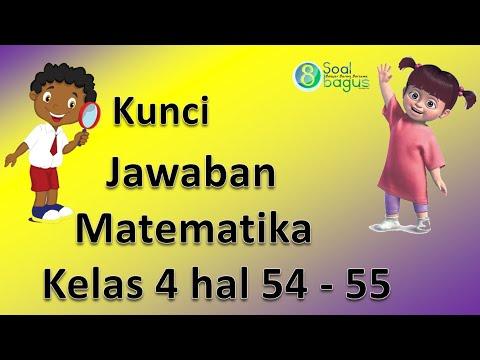 Kunci Jawaban Matematika Kelas 4 Halaman 54 55 Bse Edisi Revisi 2018 Youtube