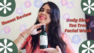 Review:Body Shop Tea Tree Skin Cleaning Face Wash/ How to remove pimples & dark sports/ Product