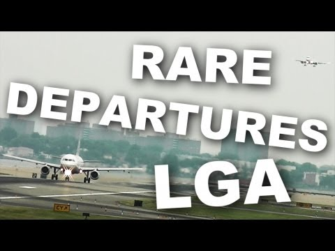 *RARE* Runway Departures at La-Guardia Airport