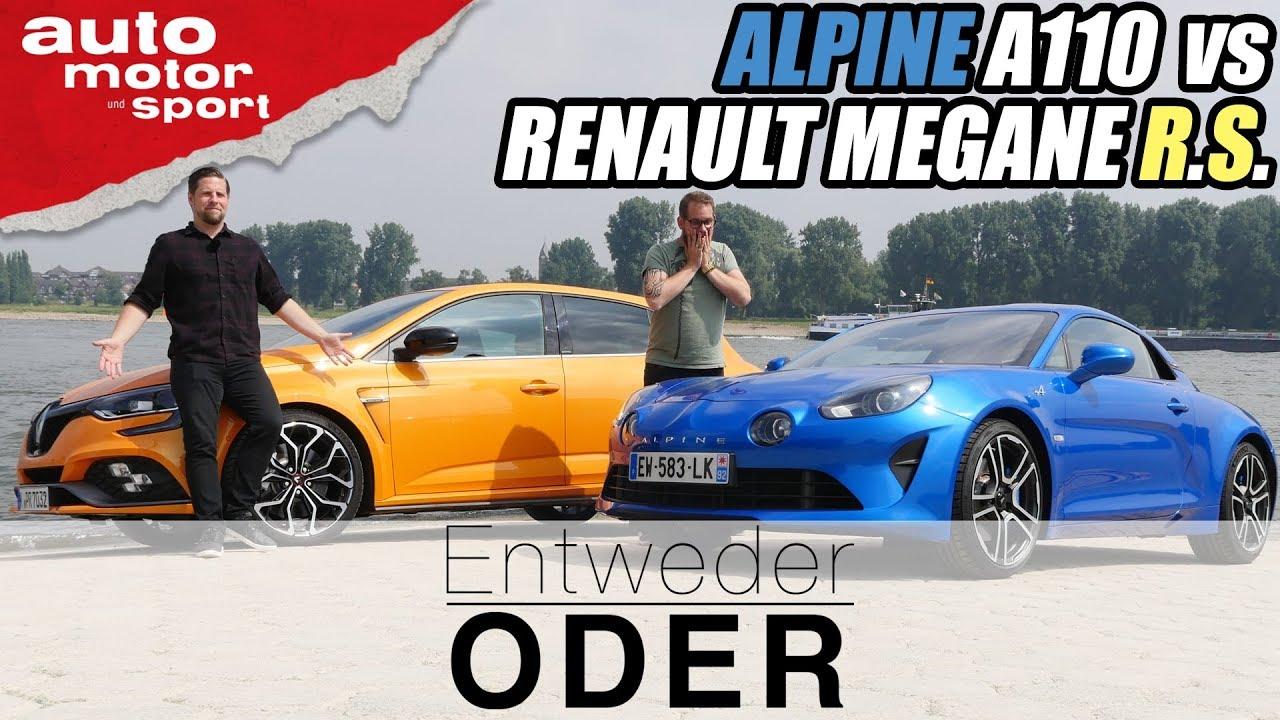 Alpine A110 Vs Renault Megane Rs Entweder Oder Vergleichreview Auto Motor Und Sport