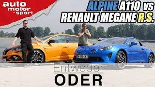 Alpine A110 vs Renault Megane R.S.| Entweder ODER | (Vergleich/Review) auto motor und sport