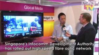 Explaining the Widget TV at ATF 2009 for Glocal Media Networks