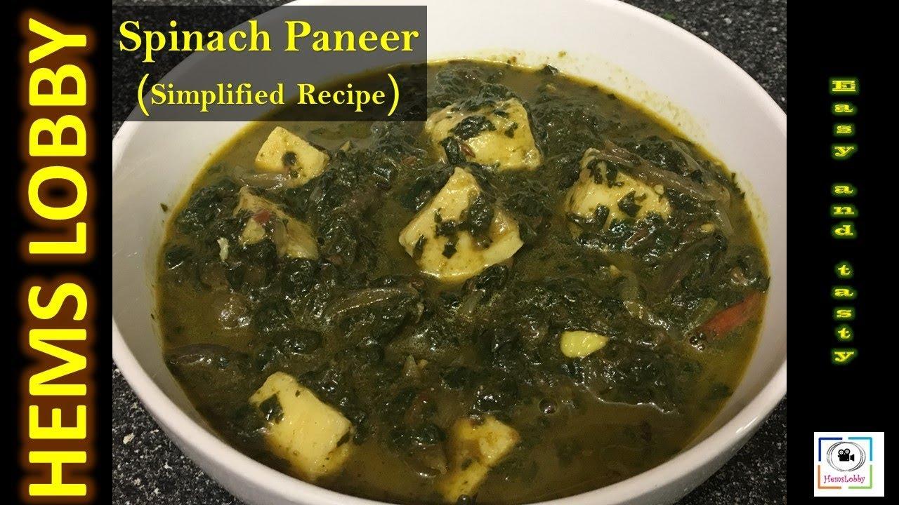 Palak Paneer | Keerai Paneer gravy in tamil | Protein Rich ...