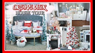 CHRISTMAS DECOR HOUSE TOUR | BEFORE AND AFTER WALKTHROUGH