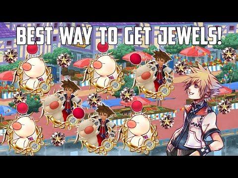 BEST WAY TO GET JEWELS! - Kingdom Hearts Union X