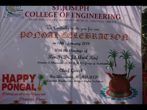 PONGAL CELEBRATION - ST.JOSEPH COLLEGE OF ENGINEERING