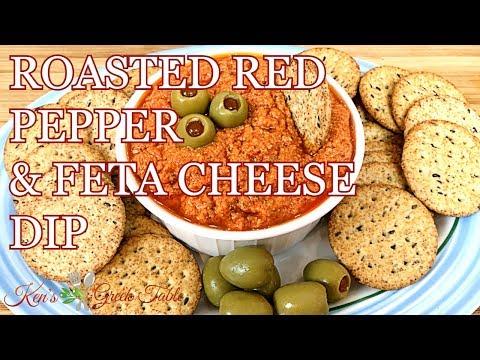 HTIPITI | GREEK ROASTED RED PEPPER & FETA CHEESE DIP | WHIPPED FETA SPREAD