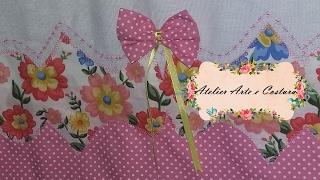 Barrado floral  – Costura em tecido