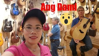 filipina american life in america a fun day with my husband trying different kinds of guitar