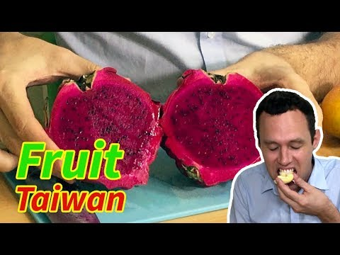 Eating TROPICAL FRUIT in Taiwan!