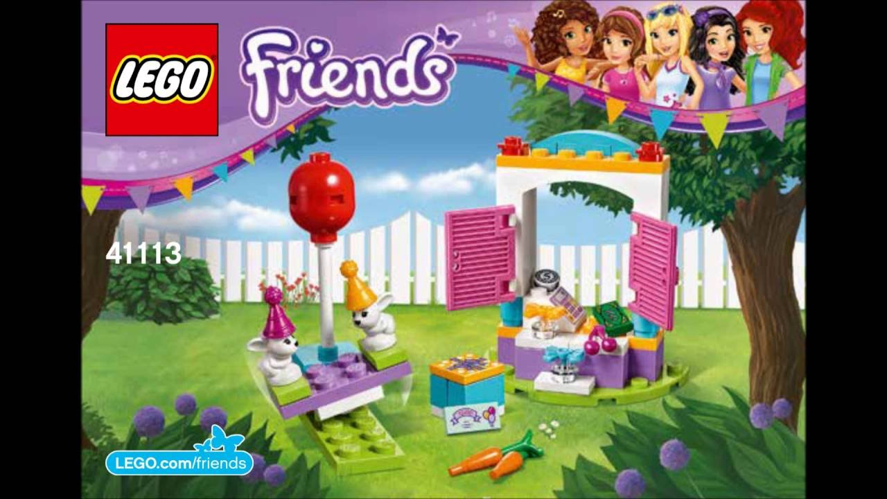 Lego Friends 41113 Party Gift Shop Building Instructions Youtube