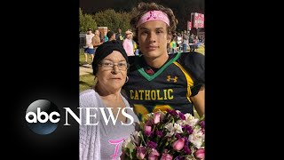 High school football player honors grandmother