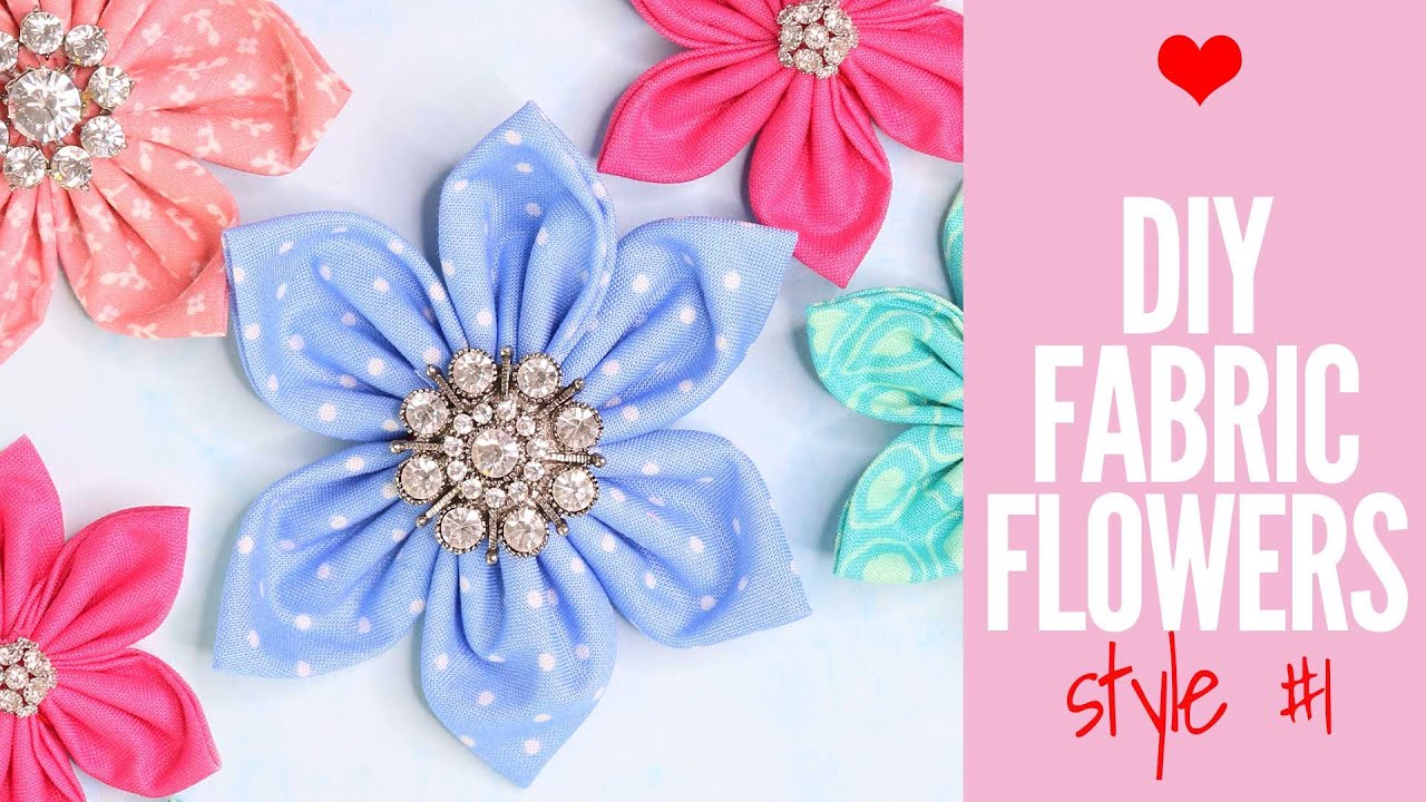 How To Make Fabric Flowers Quick And Easy Tutorial Youtube