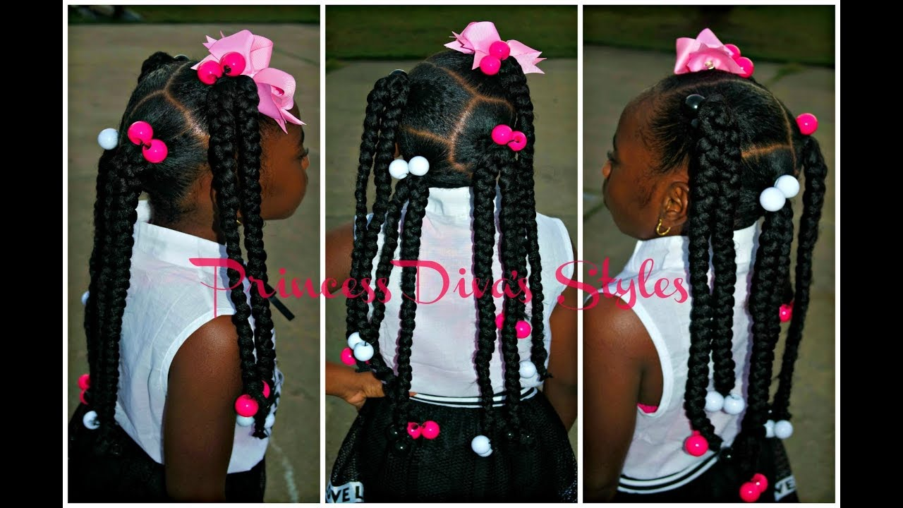 4 Slick Ponytails With Braids Using 1 Pack Of Expression