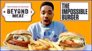 Beyond Burger vs Impossible Burger / Vegan Burger Taste Test