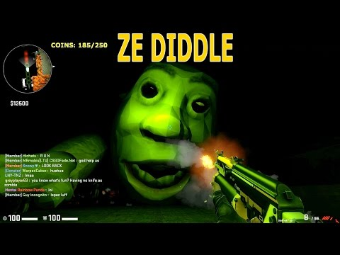 CS:GO - Zombie Escape Mod - Ze_diddle_test3 - Test Map - First Part - GFL