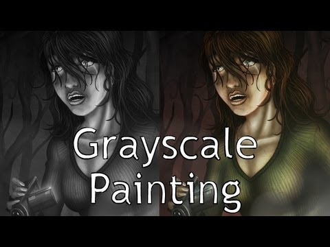 Painting Grayscale to Color in Photoshop - YouTube