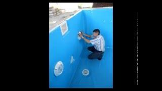 Отделка бетонной чаши бассейна пленкой(, 2015-12-13T14:49:56.000Z)
