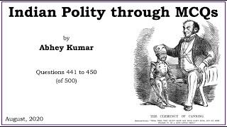 Indian Polity through MCQs by Abhey Kumar - Q441 to Q450