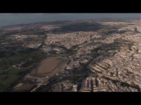 Malta Valletta views from above - with fortifications of Valletta and Manoel Island.