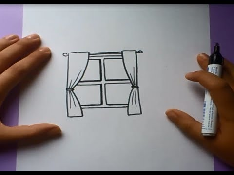 Como dibujar una ventana paso a paso how to draw a for Sala facil de dibujar