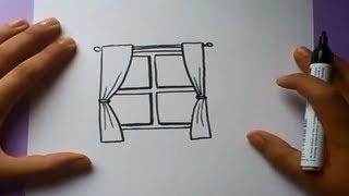 Como dibujar una ventana paso a paso | How to draw a window