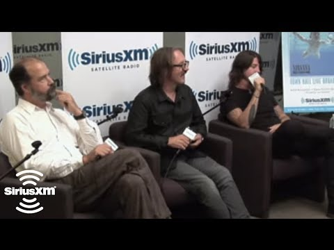 Jon Stewart with Dave Grohl, Krist Novoselic and Butch Vig // SiriusXM // Lithium