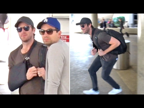 Armie Hammer Plays Hide-And-Seek At LAX Amid Rumors He'll Be The Next 'Batman'