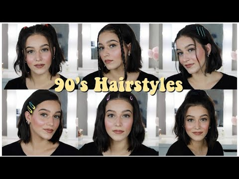 Easy 90's Inspired Hairstyles For Short Hair!