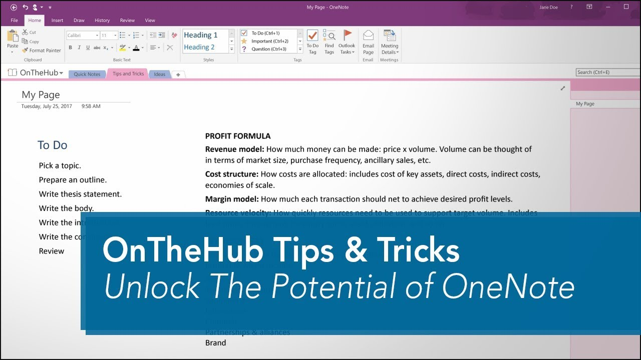 10 Tips to Unlock the Potential of Microsoft OneNote | OnTheHub