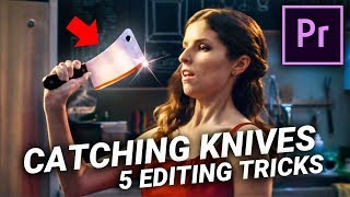 CATCH A KNIFE in Premiere Pro (5 Editing Tricks)