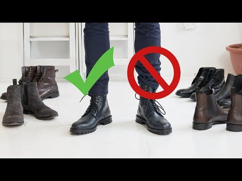 How to Style Boots This Fall | Mens Chelsea, Combat and Dress Boot Inspiration