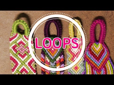 How to make a friendship bracelet with a button clasp