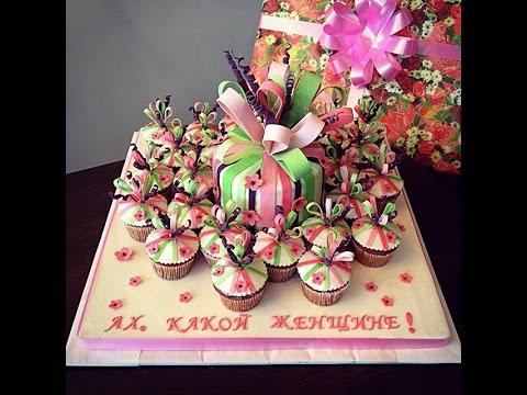 Студия Арт Кейк. Заказной торт с капкейками на день рождения.