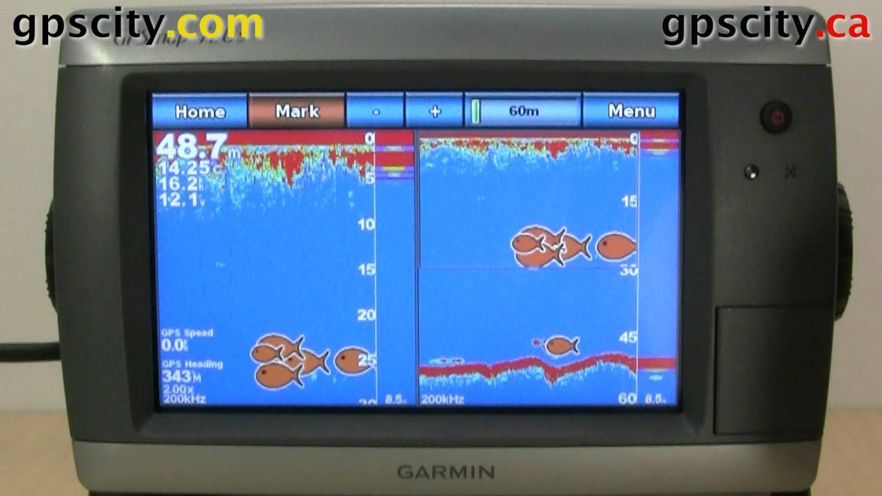 the available sonar views in the garmin gpsmap 720s youtube rh youtube com Garmin Nuvi 50 Manual garmin 5008 user manual