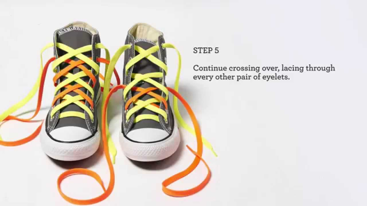 How to Lace Your Converse  Doubled Up - YouTube 83d064333