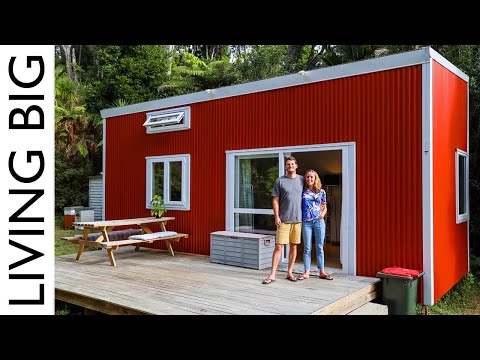 Amazing DIY Tiny House Parked In Nudist Club