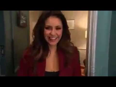 Nina Dobrev in The Late Late Show with James Corden