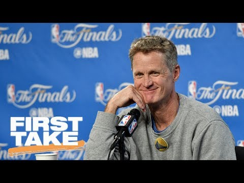 Steve Kerr Says Warriors Not Discussing Going 16-0 Through Playoffs | First Take | June 7, 2017